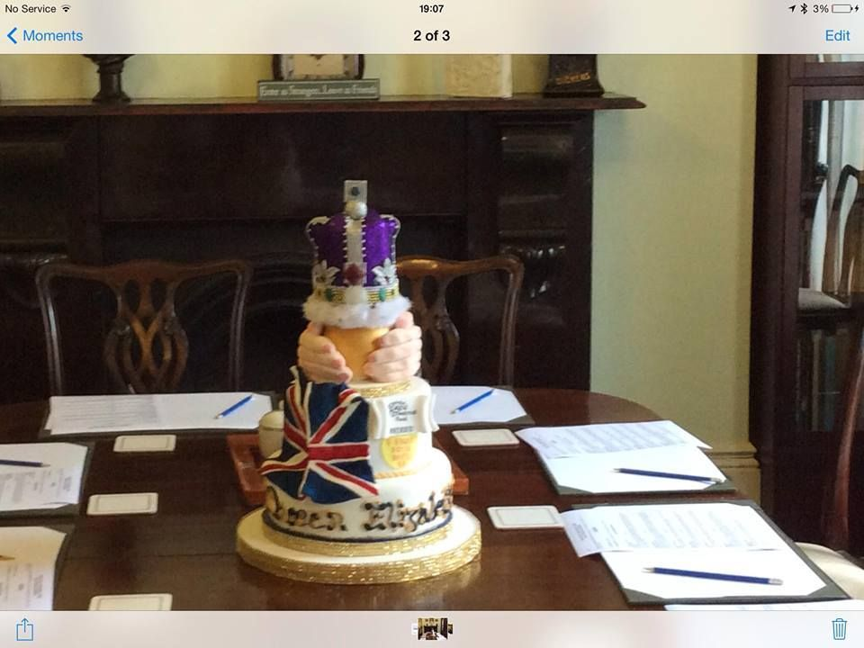 Queens birthday cake so much better than Nadias Great Cakes