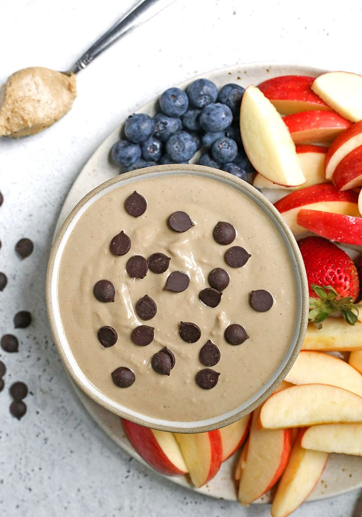 This Paleo Sunbutter Yogurt Fruit Dip Is Simple To Make And So Delicious Sunbutter And Dairy Free Yogurt Combine To In 2020 Fruit Dip Yogurt Fruit Dip Paleo Fruit Dip