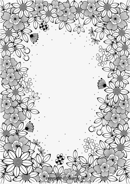 цветы для рамки картинки черно белые называют