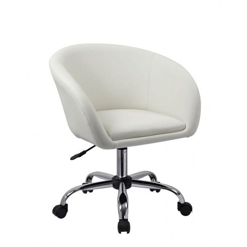 Chaise De Bureau Blanche Fauteuil Roulette Tabouret Chaise De Bureau Blanc Bur09021 Chair Furniture Office Chair