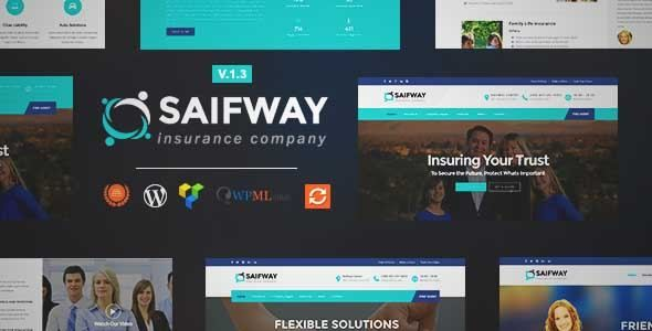Download And Review Of Saifway Insurance Agency Wordpress Theme