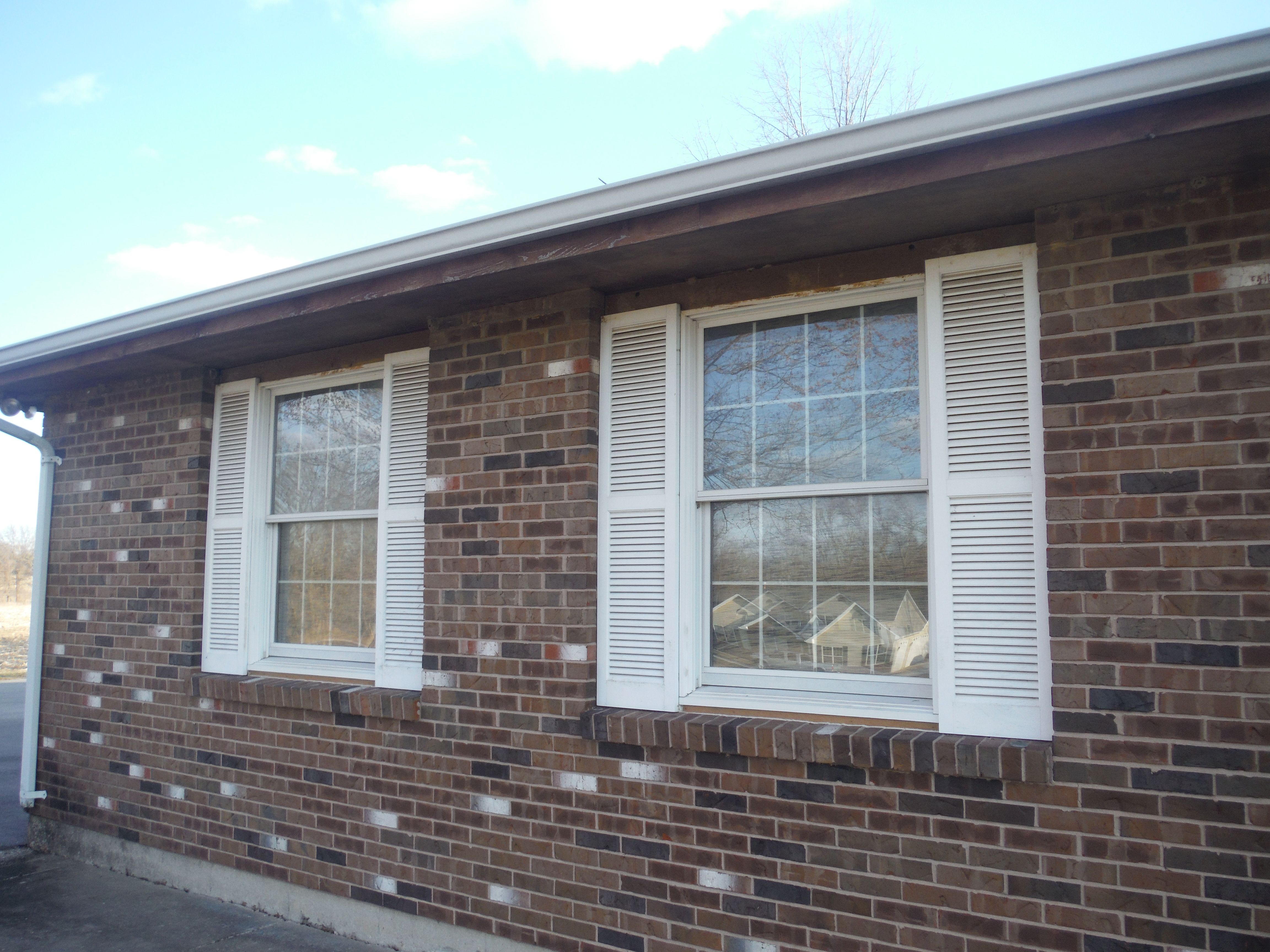Above exterior window decor  before picture of the window shutters window shutters today are