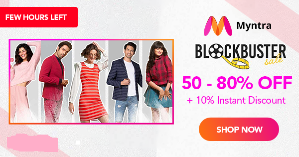 Myntra Coupons & Offers Flat 70 OFF + RS.1000 OFF (Jan