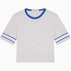 Calvin Klein Cropped T-Shirt mit Logo Tape M Calvin KleinCalvin Klein