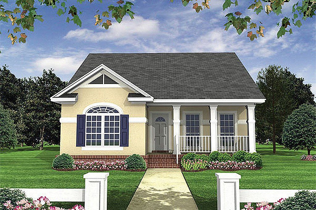 Cottage Style House Plan 2 Beds 2 Baths 1100 Sq Ft Plan 21 222 In 2020 Cottage Style House Plans Cottage Style Homes House Plans