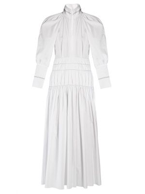 ELLERY.  Sword bubble-sleeved cotton maxi dress