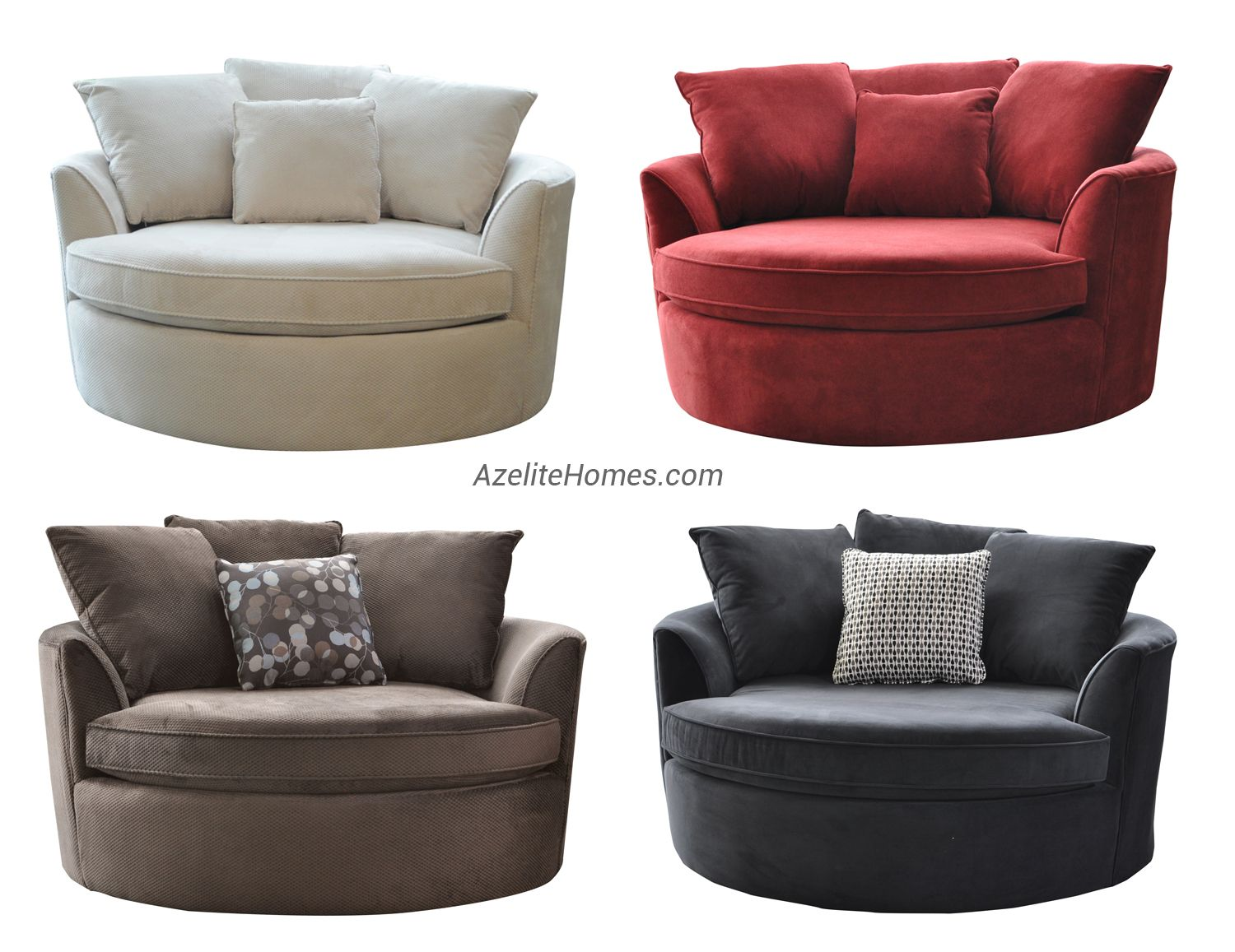 Round Loveseat Chair Front Room Decor Family