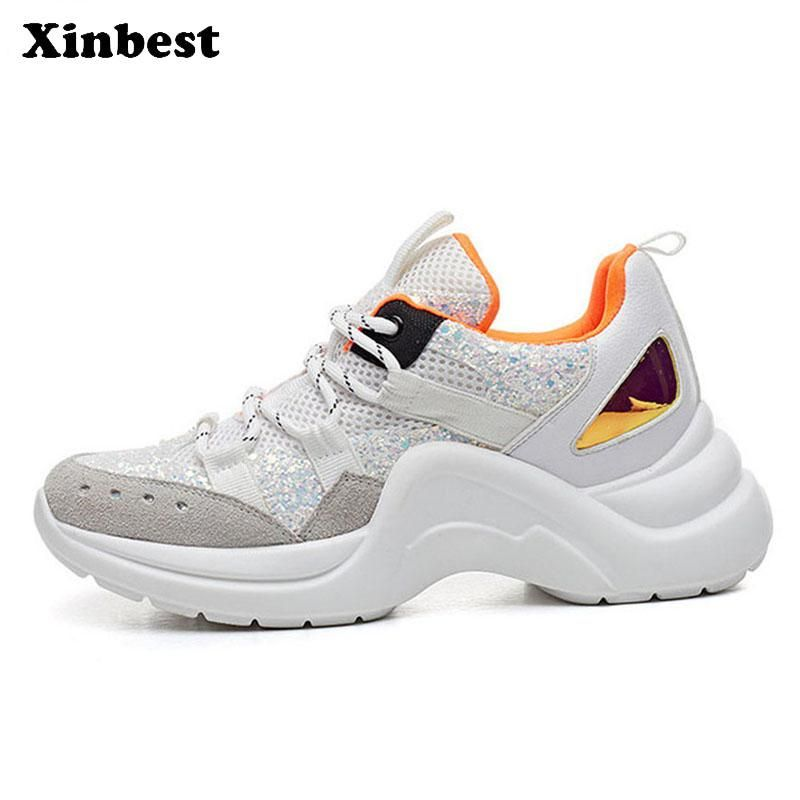 Xinbest Spring 2018 Shoes Woman Brand Summer Breathable Mesh Sport Shoes For Women Outdoor Athletic Walking Womens Cycling Shoes Women Sport Shoes Women Shoes