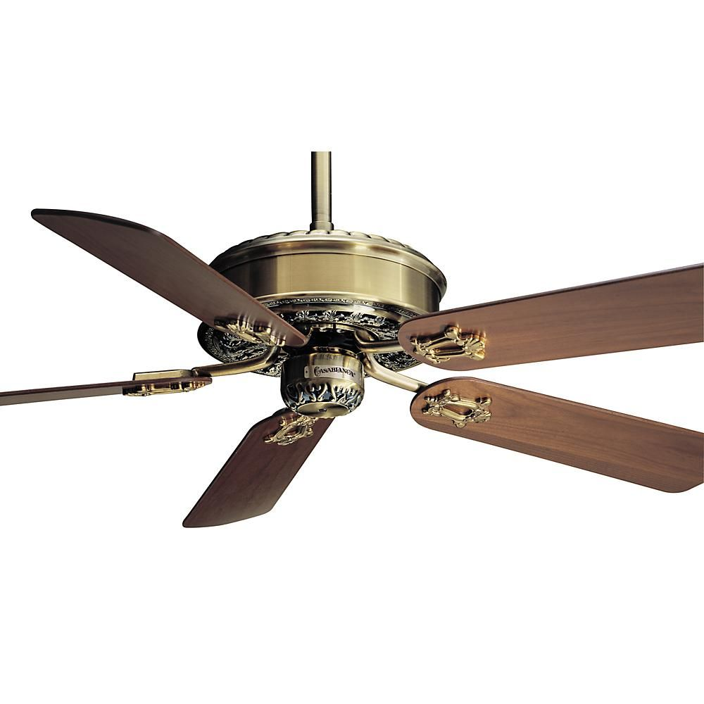 This Fan Motor Without Blades Is Part Of The Victorian Collection And Has An Antique Brass Finish Antique Ceiling Fans Ceiling Fan Victorian Ceiling Fans