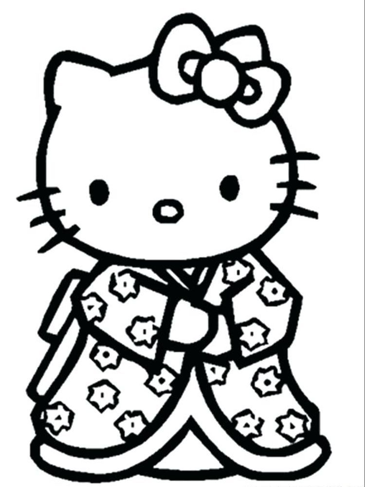 Hello Kitty Beach Coloring Page When We First Heard Hello Kitty The First One That Occurred In 2020 Hello Kitty Printables Hello Kitty Colouring Pages Kitty Coloring
