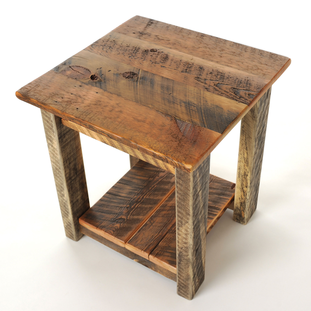 Reclaimed Wood End Table Wood End Tables Corner Furniture End
