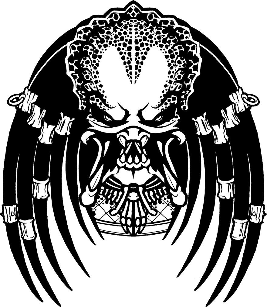 Predator PNG Image Predator tattoo, Skull drawing