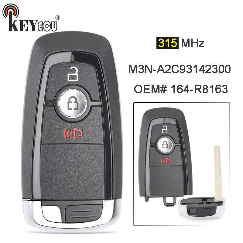 Keyecu 315mhz Fcc M3n A2c93142300 164 R8163 Smart 3 Button Remote Key Fob For Us 47 60 Ford Trucks Ford Fusion Ford