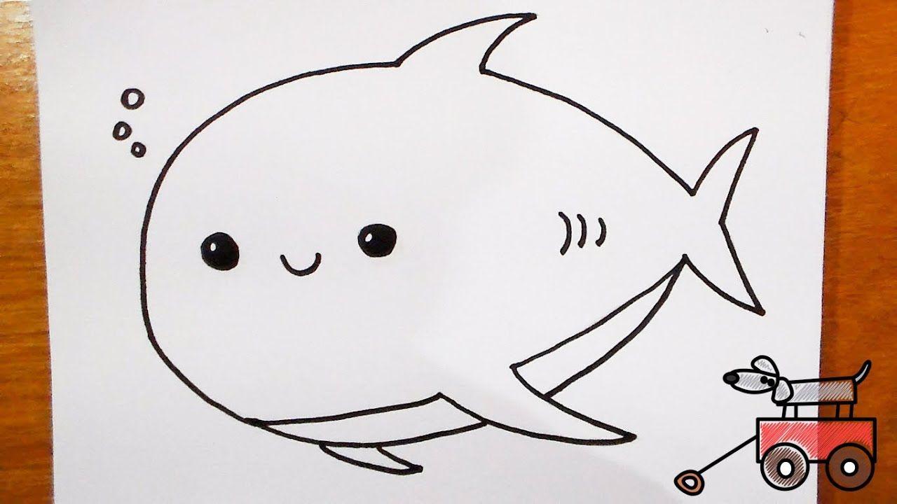 تعليم الرسم كيف ترسم سمكة قرش لطيفة Hello Kitty Kitty Character