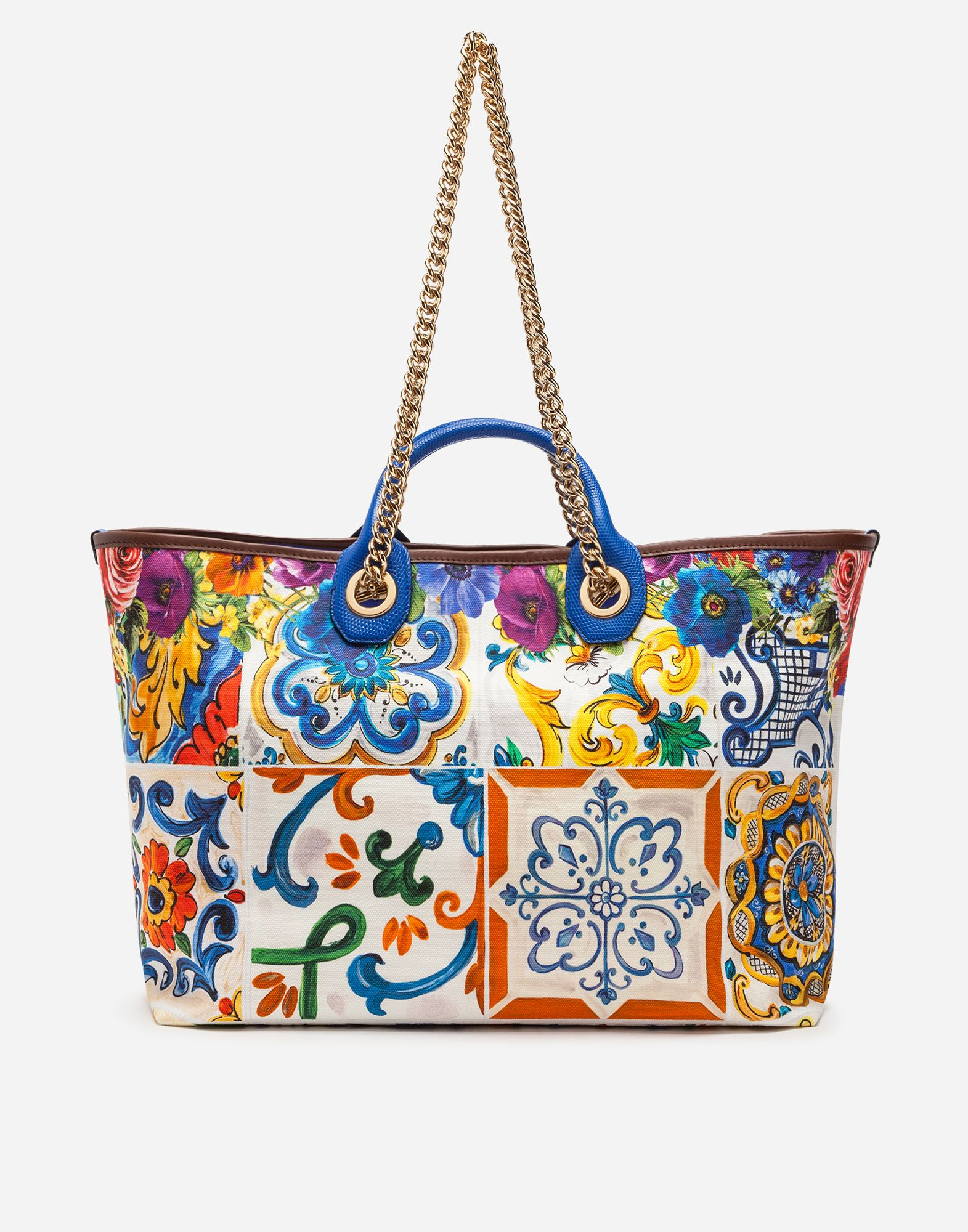 20eda84115 Dolce Gabbana MEDIUM CAPRI SHOPPING BAG IN PRINTED CANVAS