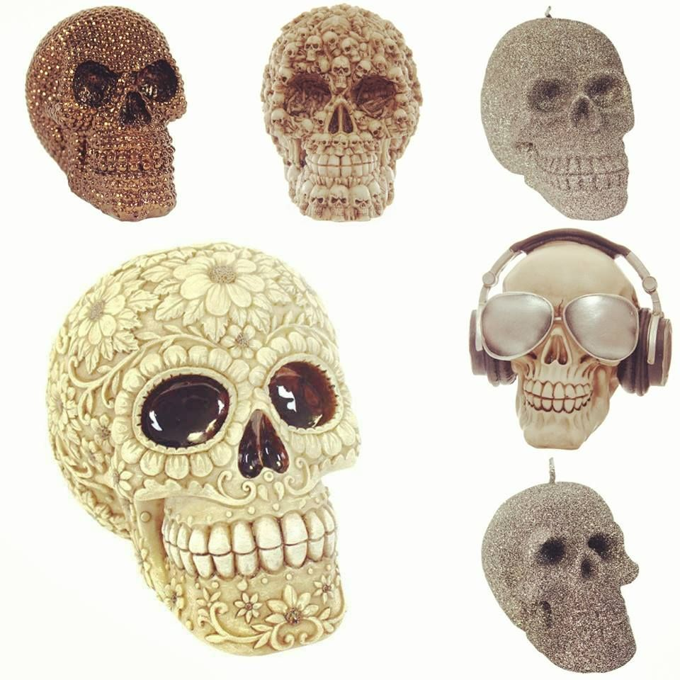 Fun ornamental skulls. Pop Art. Great collectors items or fun gifts. #skull