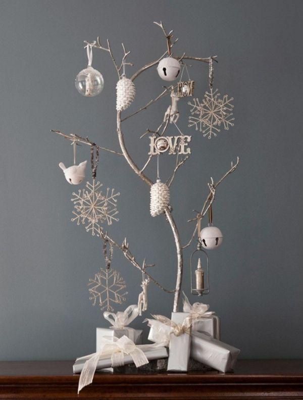 Shabby Chic Deko Selber Machen Weihnachtsbaum Christbaumschmuck Weiss