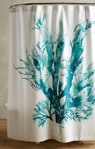 This Stunning Gingko Shower Curtain Adds A Touch Of Seaside Style To Your Bathroom Made From Cotton Slub 88 Buy Here