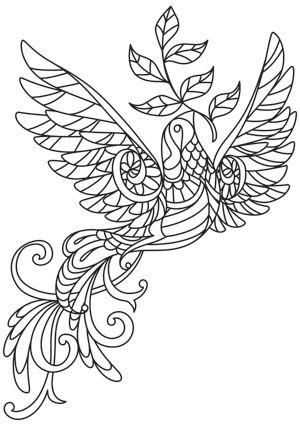 Delicate December Dove Design Uth7262 From Urbanthreads Com