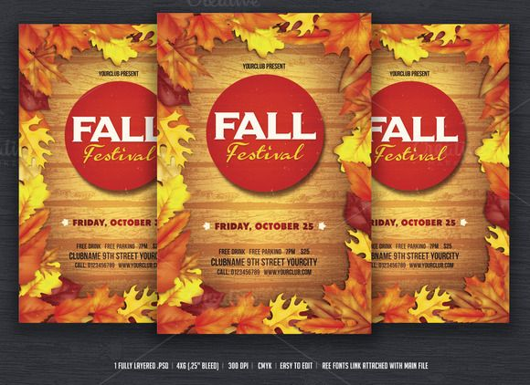 fall festival flyer by designworkz on creative ma templates