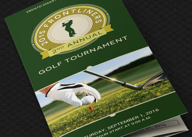 Charity Golf Tournament Brochure Template Is For FundRaising Golf