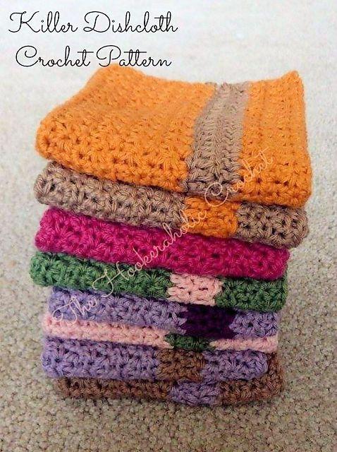 Free Crochet Pattern: Killer Dishcloth | kitchen crochet | Pinterest