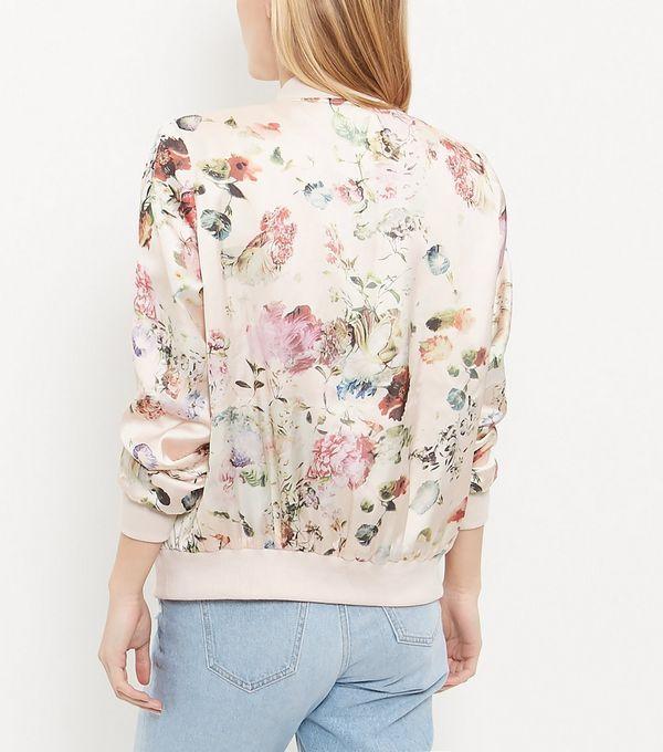Pink Floral Print Bomber Jacket | Coats, Bomber jackets and I love