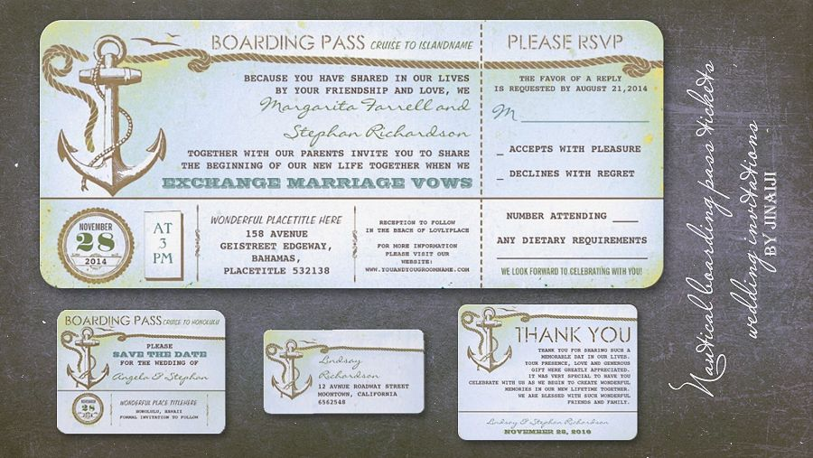 Wedding Boarding Pass Vintage Tickets With Rsvp Invitation Zazzle Com In 2020 Nautical Wedding Invitations Boarding Pass Wedding Invitation Nautical Wedding
