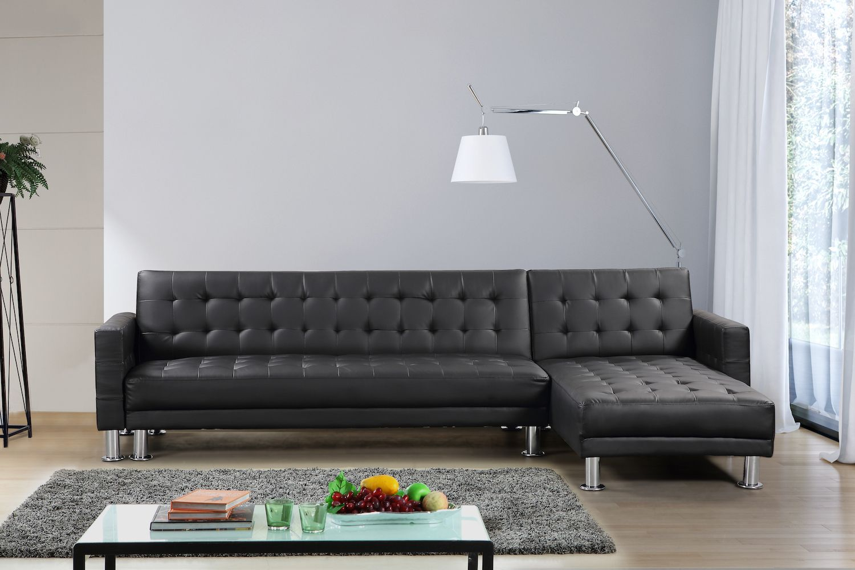Velago attalens leather sleeper sofa