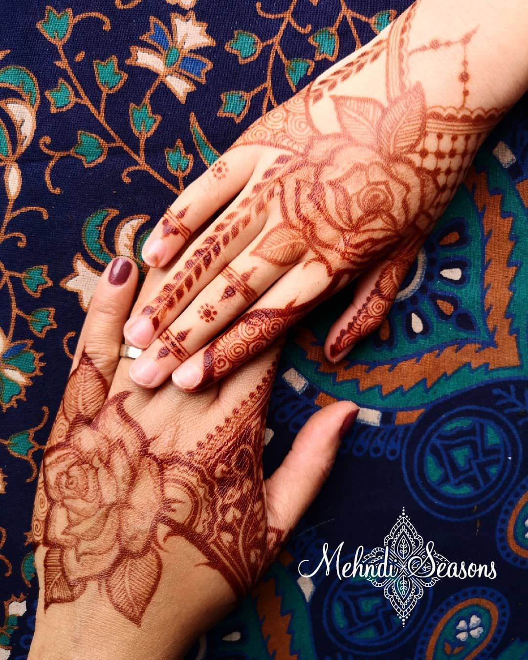 Image May Contain One Or More People And Closeup Rose Mehndi Designs Henna Designs Hand Back Hand Mehndi Designs
