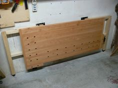 Tommy S Wall Mounted Folding Workbench The Wood Whisperer