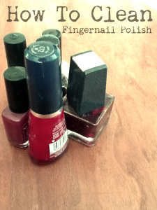 how to clean fingernail polish out of carpet and upholstery