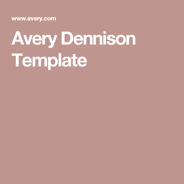 Awesome Avery Dennison Templates Ideas - Example Resume Templates ...