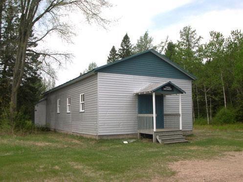 St-Gabriel-de-Valcartier, Quebec Salle communautaire Saint Andrew. Vue latérale