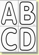 A comme pop coloriage pinterest pop lettres et - Lettre a decouper ...