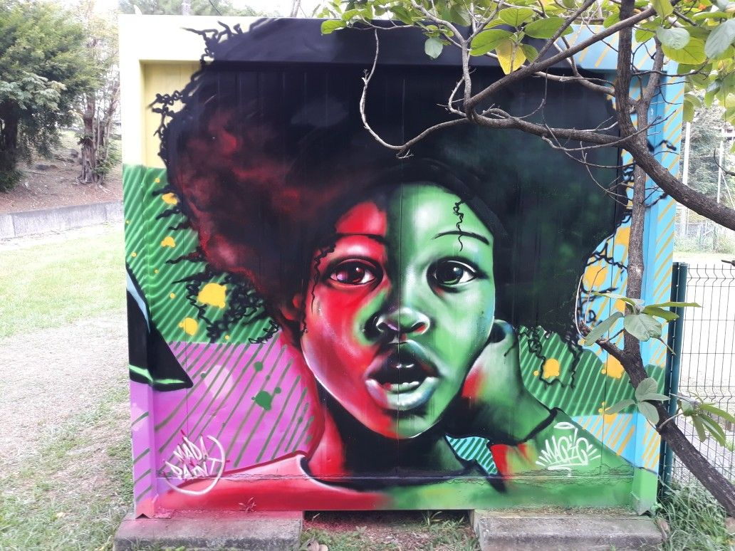 Graffiti Magiic Art S Portrait Afro Rouge Et Vert Black Baby By Magiicarts Mada Paint Madapaint Afro Graffiti Magiic Graffiti Art Painting