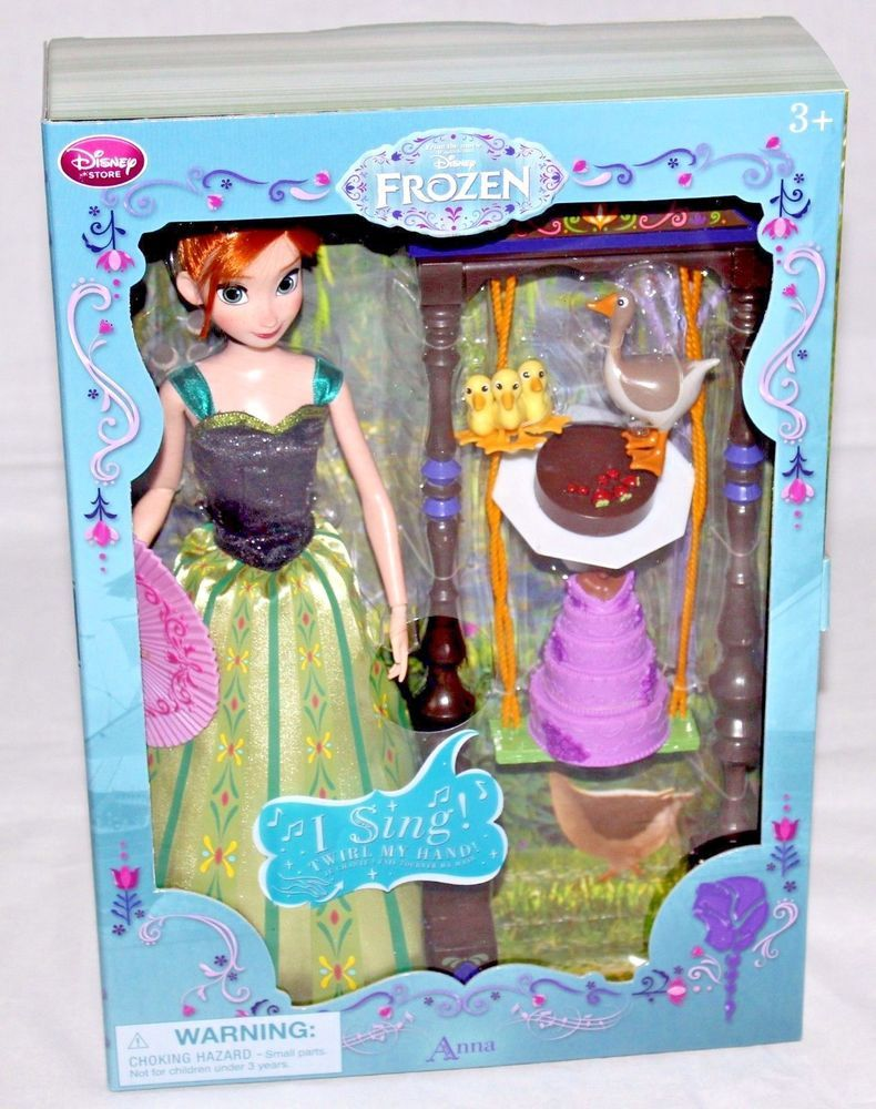 """11/"""" Anna Deluxe Singing Doll Set Disney Store 2015 Authentic US Sellere,,"""