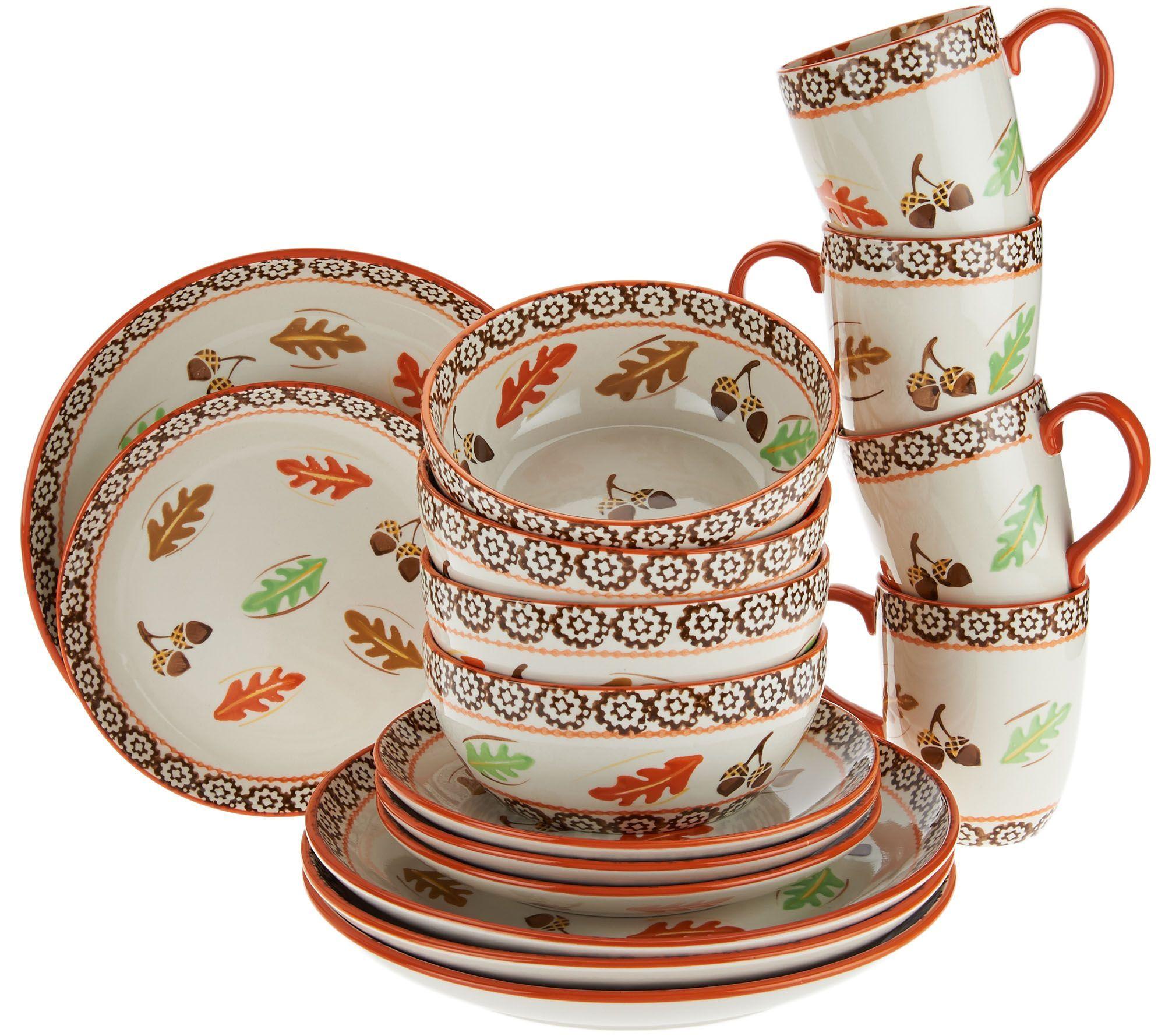 Temp-tations Harvest Dinnerware | QVC | Pinterest | Dinnerware ...