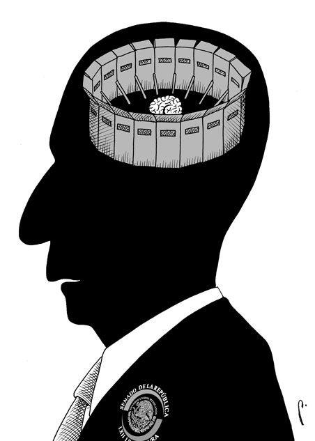 ¿Amurallado? En el cartón de Perujo: Materia gris   El Economista