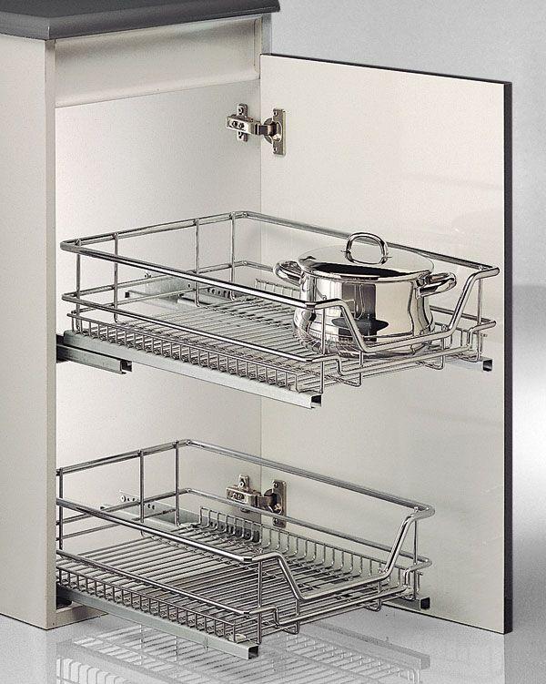 Cesto multiuso para armarios de cocina cocina en orden - Muebles de cocina metalicos ...