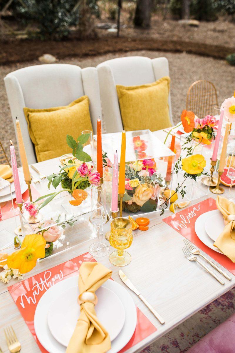 Geel oranje zomer bruiloft citroen partij Decor