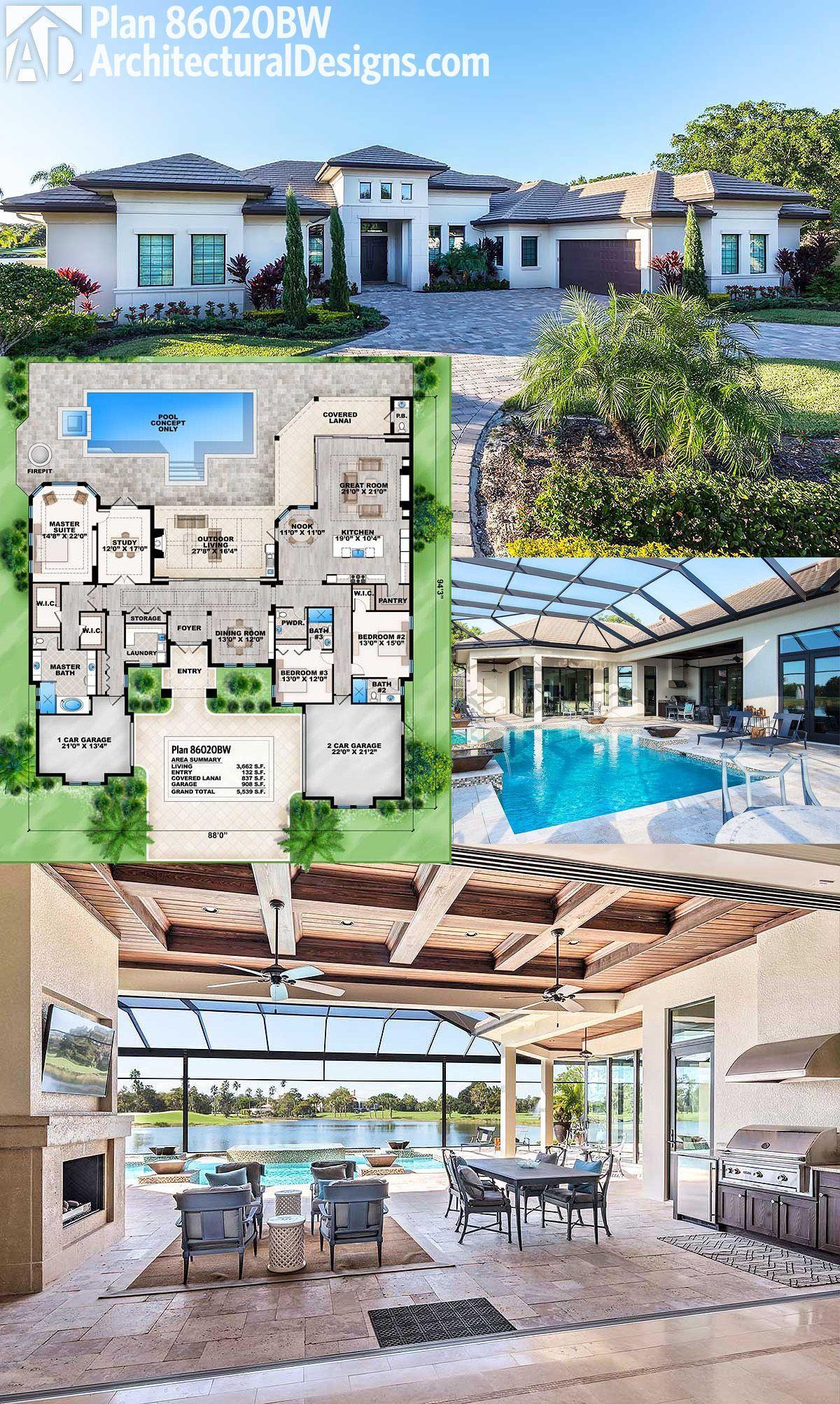 Photo of Architectural Designs House Plan 86020BW bietet fantastisches Wohnen im Innen- und Außenberei…