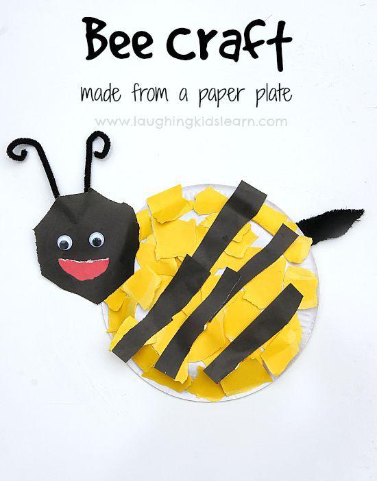 Paper Plate Bee Craft Activity Art Bee Crafts Crafts Craft