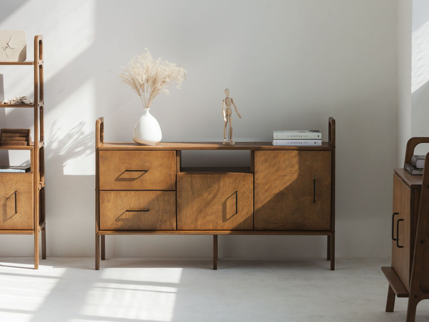 Mid Century Chest Of Drawers With Cabinet Sideboard Scandinavian Mid Century Sideboard Furniture