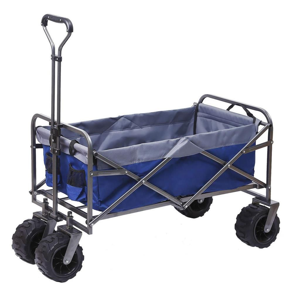 Shade Beyond 7 Cu Ft 21 In W Steel Outdoor Folding Wagon Sfw00002133 The Home Depot Folding Wagon Utility Cart Outdoor Cart