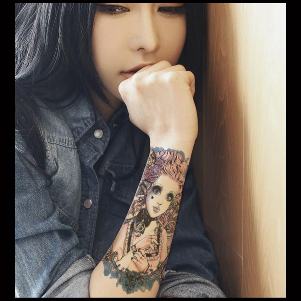 Pattern waterproof arm sleeve body shoulder temporary tattoo sticker - Cheap Body Art Buy Quality Temporary Tattoo Sleeves Directly From China Tattoo Sticker Suppliers Nani Waterproof Temporary Tattoos Sleeve Body Art Men
