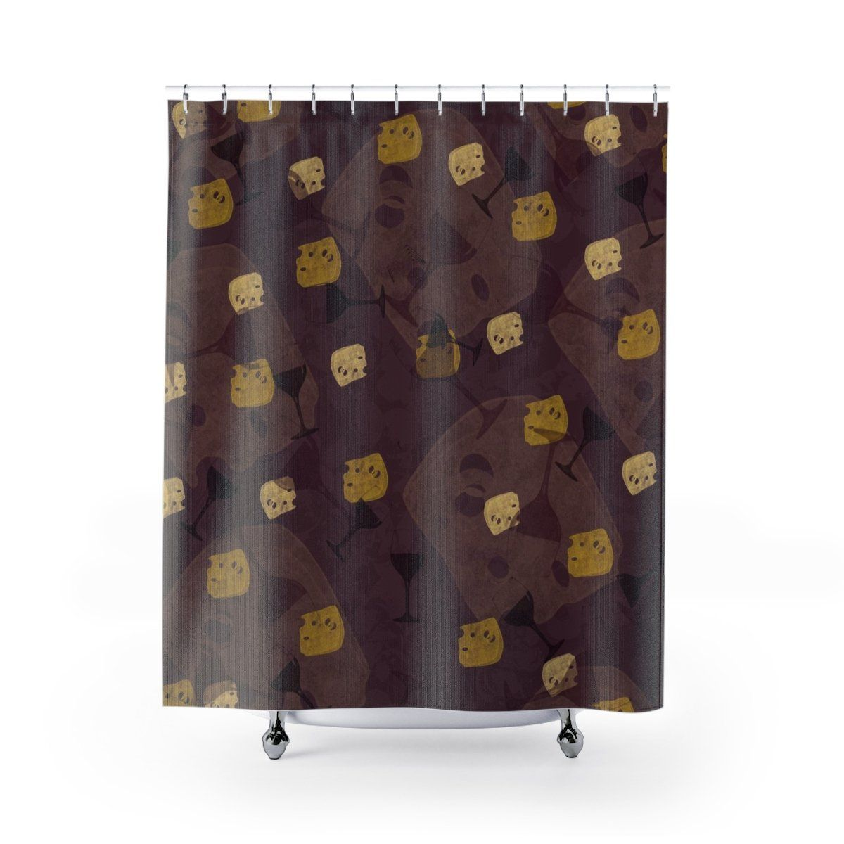 Shower Curtains Unusual Bathrooms Burgundy Wine Bathroom