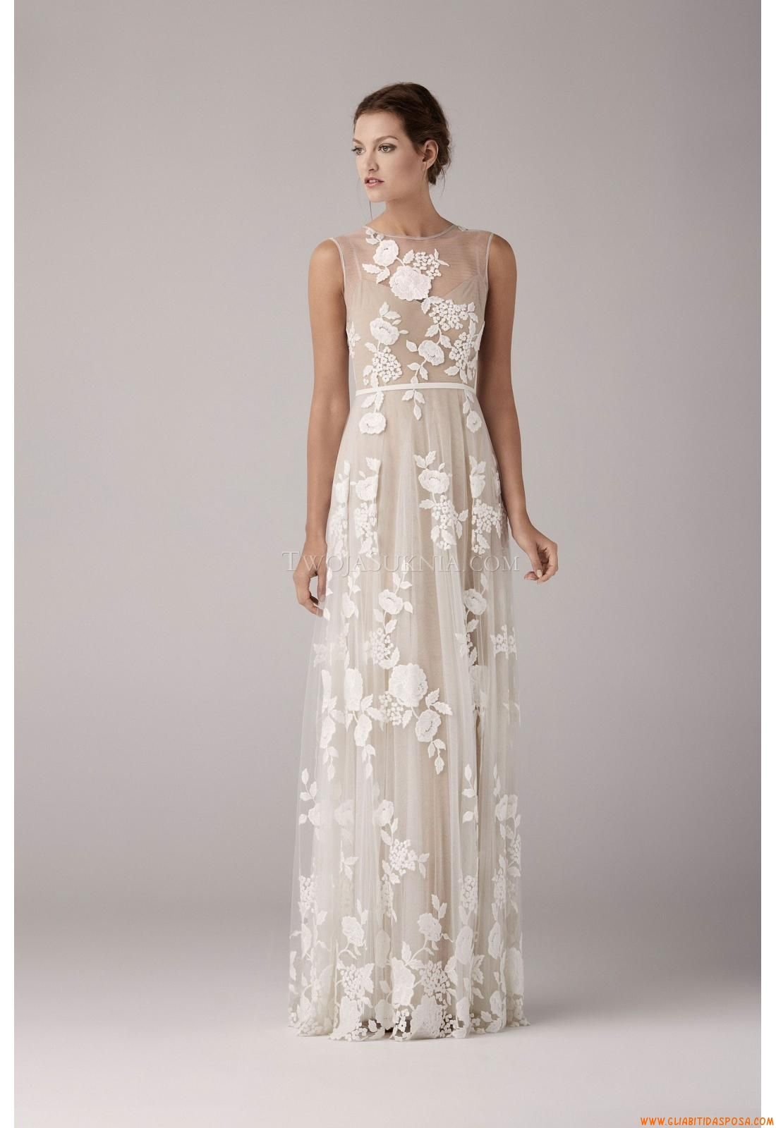 wedding dress for a bohemian style wedding... wonder if i could pull ...