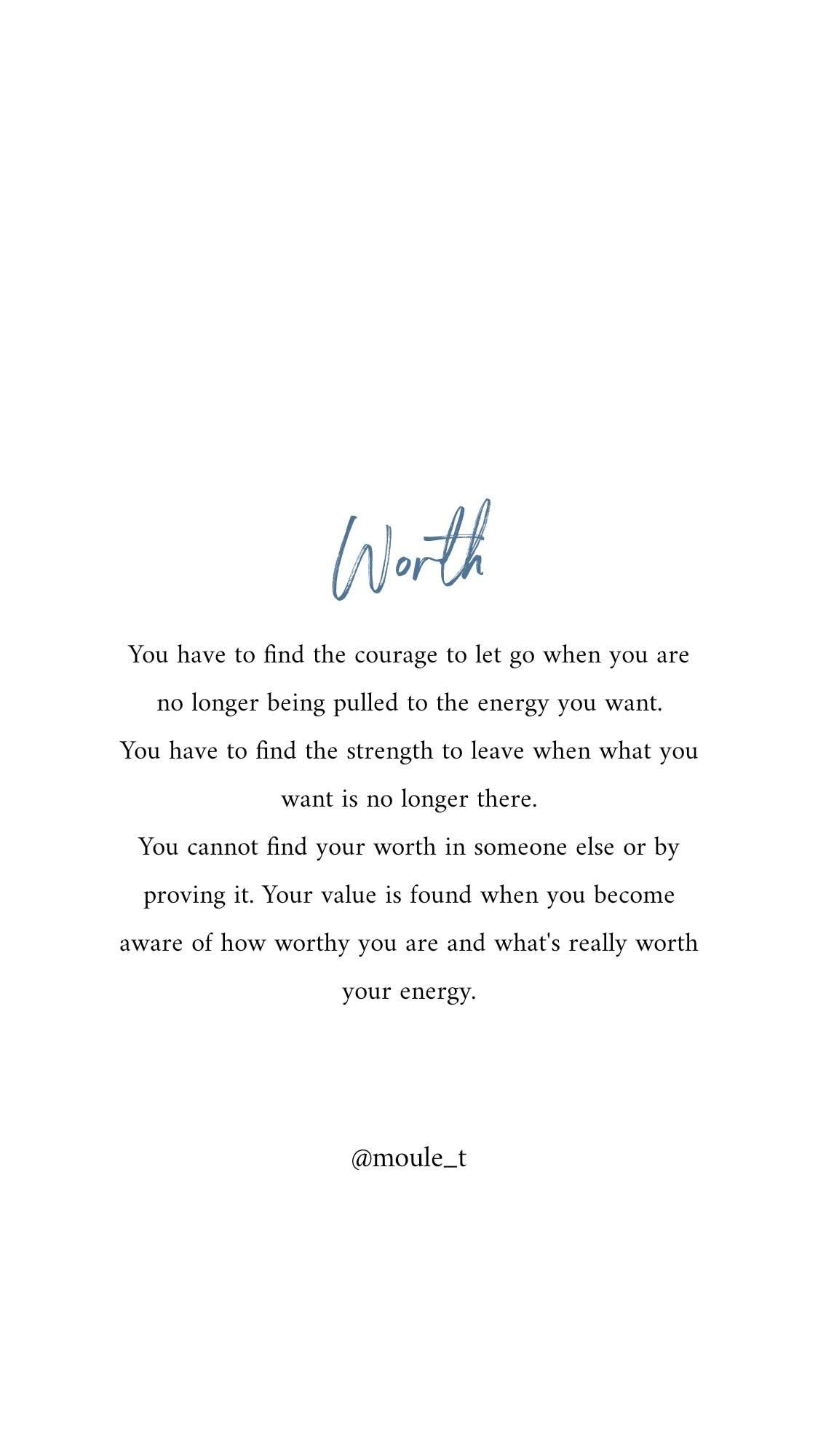 You are worthy of everything