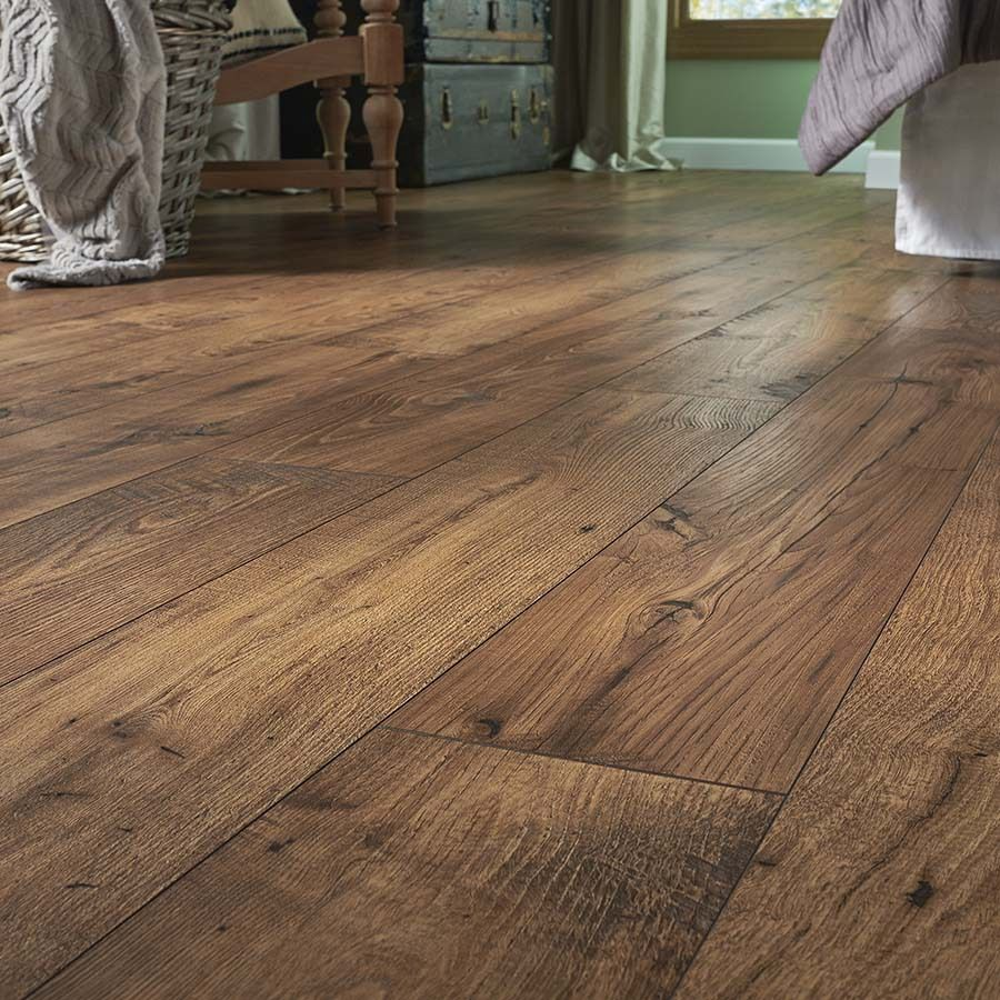 Shop Pergo Max Premier 7 48 In W X 4 52 Ft L Amber Chestnut Embossed Laminate Wood Planks At Lowes Com Wood Laminate Flooring Flooring Pet Friendly Flooring